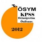 2012 Kpss Ortaöğretim – Önlisans Yorumları